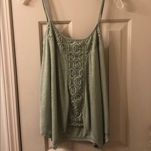 Green tank top from Francesca's